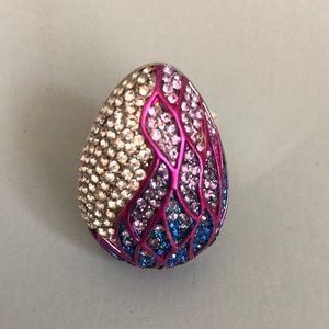Oversized Rhinestone costume ring size 8